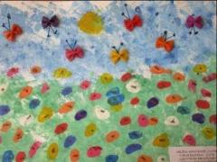 Milena Gvozdovič 3,10 m. Lukas Šalenga 3,10 m. 'Gėlytės su drugeliais'