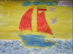 Titas Rukštelis 4,1 m. 'Laivas išplaukia į jūrą'